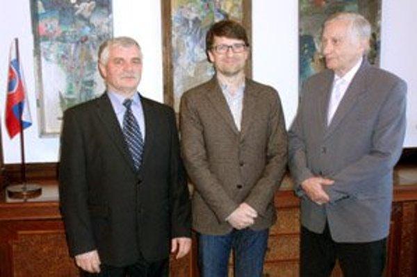 Zľava: Marián Grígeľ, Marek Maďarič a Augustín Maťovčík