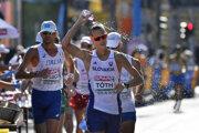 Slovenský reprezentant Matej Tóth počas pretekov chôdze mužov na 50 km na ME v Berlíne.