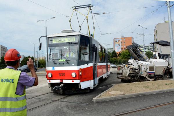 Skúšobná jazda električiek v Košiciach.