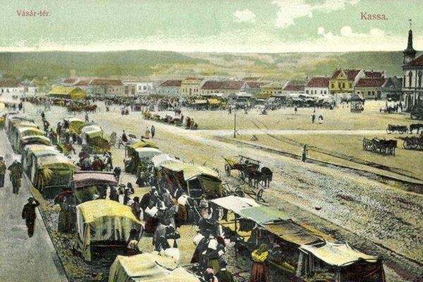Trh na dnešnom Námestí osloboditeľov v Košiciach.