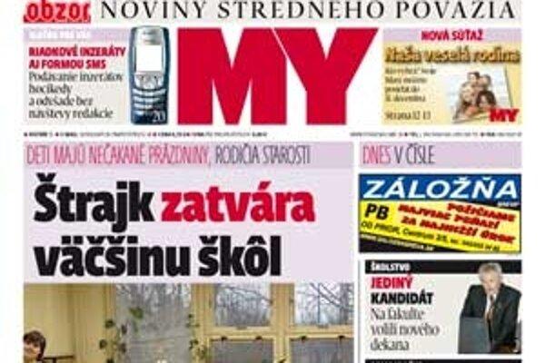 Nové číslo MY Noviny stredného Považia už v predaji.