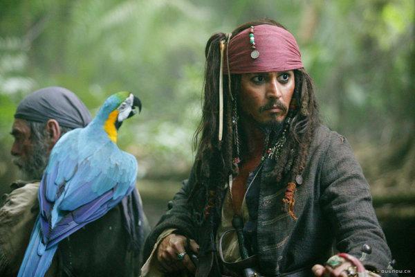 Johnny Depp v Pirátoch z Karibiku.