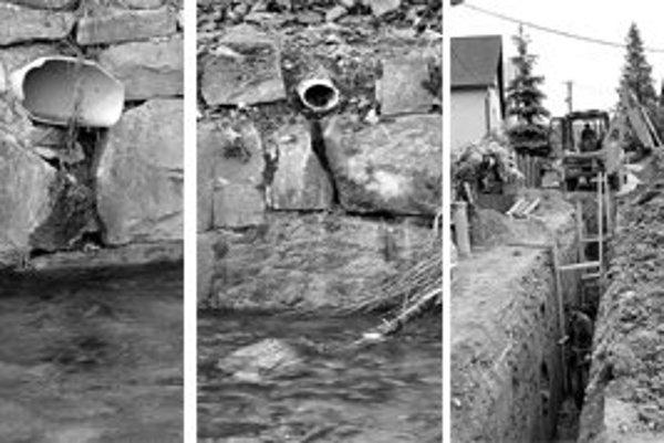 Kanalizácia má zabrániť nelegálnemu vypúšťaniu odpadových vôd do potokov.