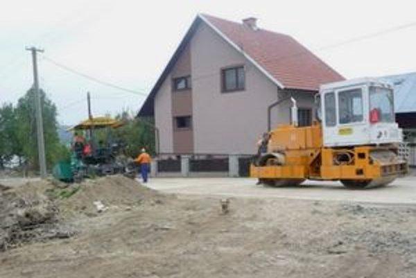 Výstavba ulice Tomašáková.