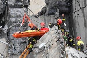 Záchranári v akcii.
