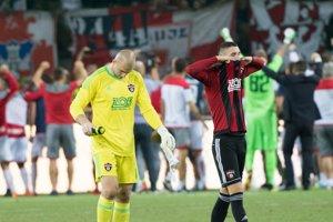 Hráči Trnavy boli po zápase veľmi sklamaní.