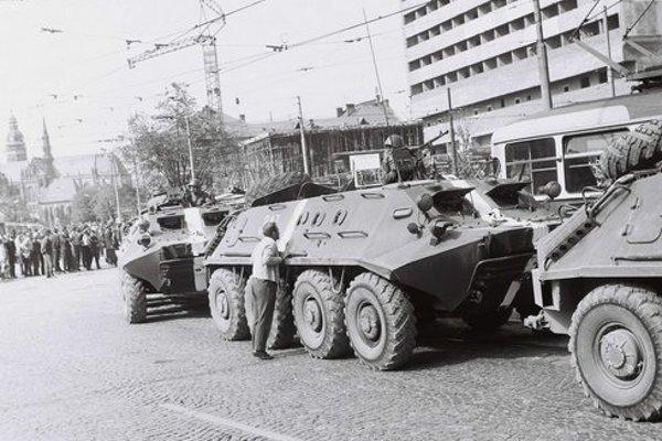 Tanky na Námestí osloboditeľov v Košiciach.