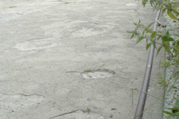 Neoficiálne kúpalisko v Rabčiciach už nerobí radosť ani deťom - namiesto kúpaliska je v ňom sucho. Môžu za to júnové povodne.