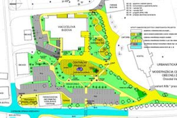 Takto by malo onedlho vyzerať centrum Oravského Veselého.
