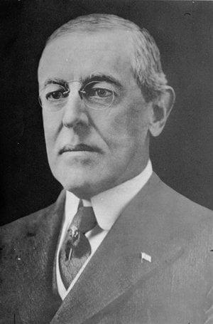 Americký prezident Woodrow Wilson