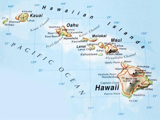 Hlavné Havajské ostrovy