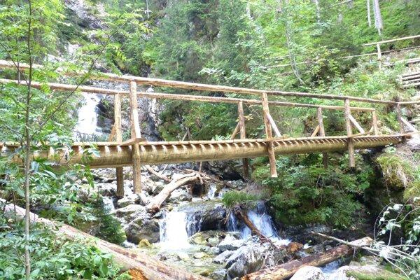 Nový most pod Kmeťovým vodopádom