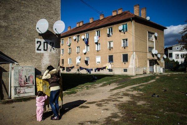 Bytovky na Nábrežnej ulici.