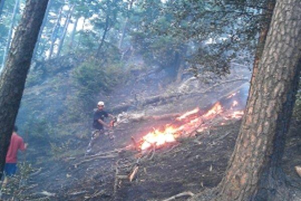Požiar dal hasičom zabrať. Vďaka dobrovoľníkom, profesionálom a pomoci vrtuľníka sa ho podarilo uhasiť.