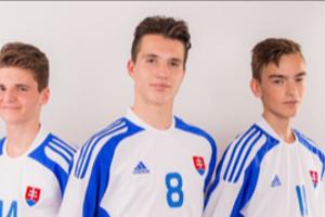 Trojica košických olympijských nádejí. Zľava: Sebastián Bačo, Matúš Šlehofer aMarek Kuruc.