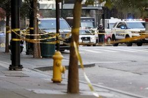 Polícia na mieste udalosti.