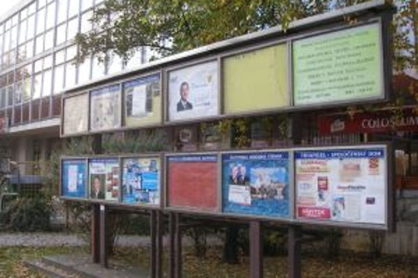 Vitríny politických strán ešte žijú parlamentnými voľbami. Zatiaľ ich voliči nezaujímajú.