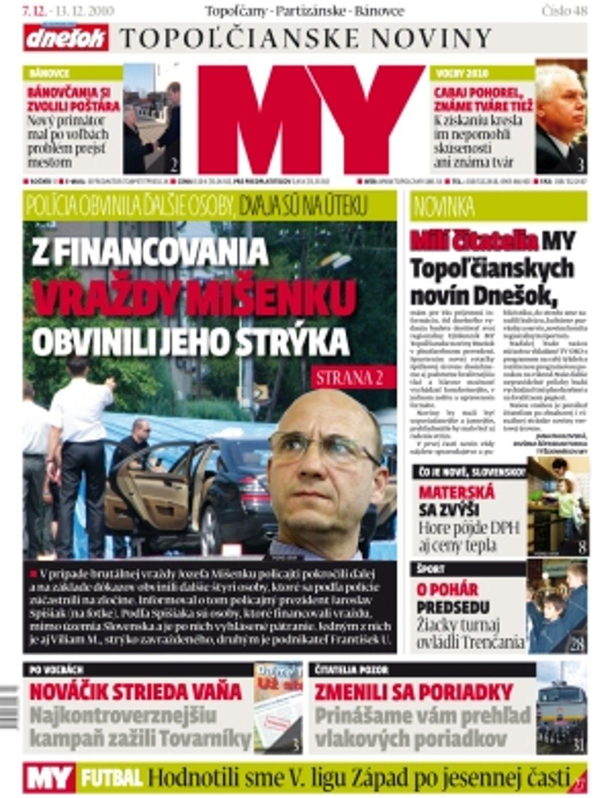 1f549618f Najnovšie číslo MY Topoľčianske noviny Dnešok vyšlo v utorok - SME ...