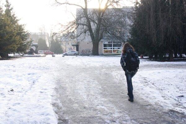 Aj v mestách sa nájdu chodníky, na ktoré sa dá vykročiť iba s rizikom alebo v korčuliach.