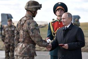 Ruský prezident Vladimir Putin na vojenskom cvičení Vostok 2018.
