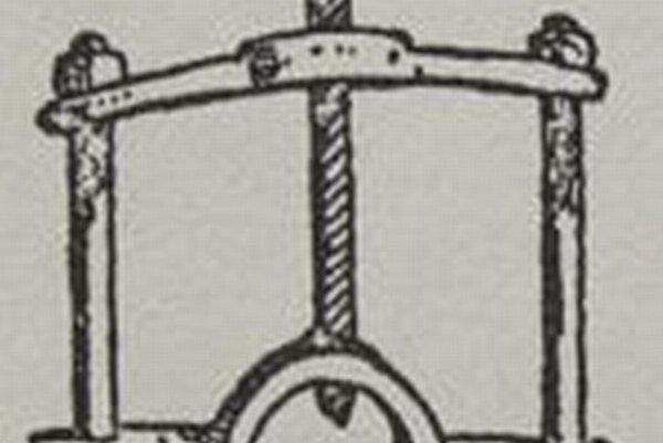 Prístroj na vŕtanie do priehlavku na nohe.