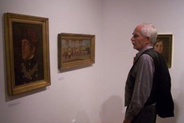 Z výstavy obrazov Milana Thomku Mitrovského.