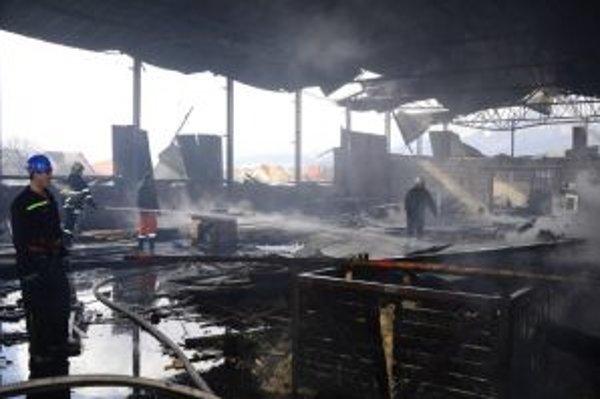 Hasiči bojovali s ohňom aj v miesznej drevárskej firme.