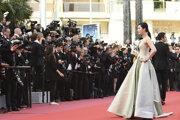 Fan na filmovom festivale v Cannes.