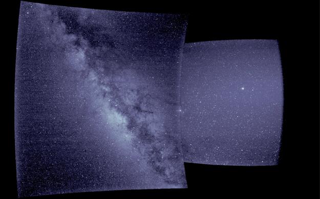 Sonda Parker má iba jeden zobrazovací nástroj - WISPR. Zložením záberov z jeho vnútorného a vonkajšieho teleskopu vznikla táto snímka.