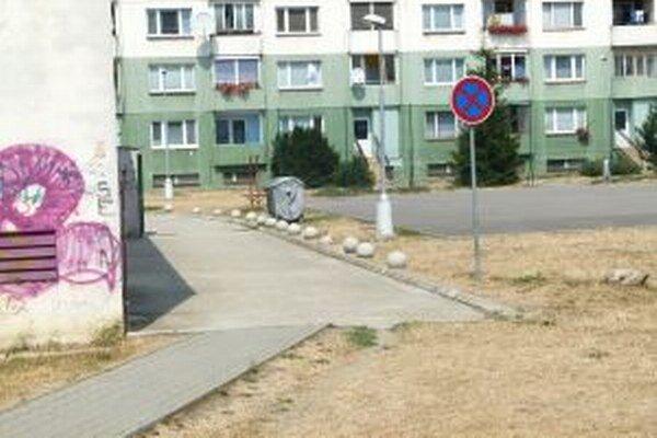 Dopravná značka zakazovala chodcom zastaviť.