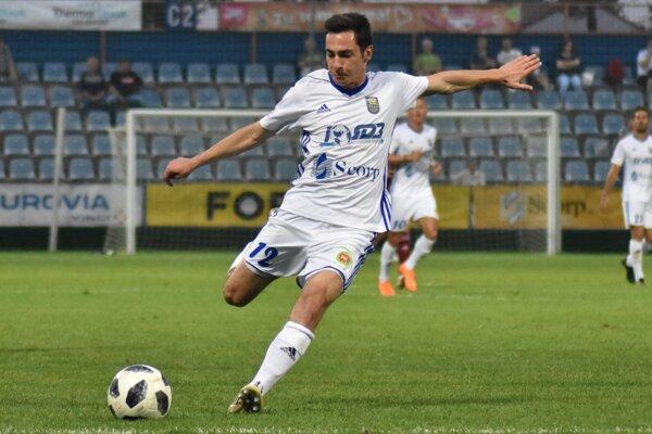 Jediný gól Michaloviec v Nitre strelil Jozef-Šimon Turík.