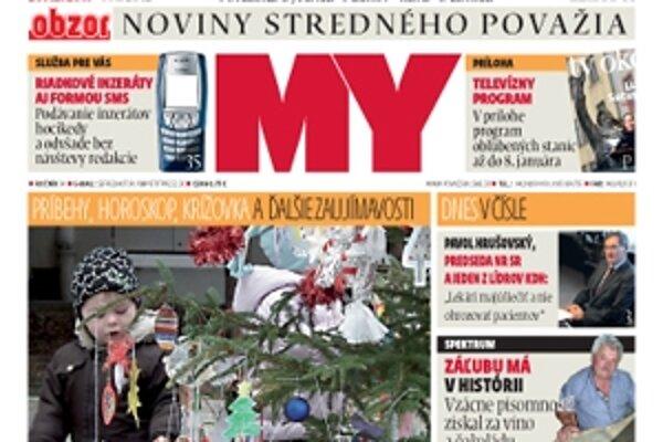 Vianočné dvojčíslo MY Novín stredného Považia nájdete v stánkoch i v predajniach už od pondelka.