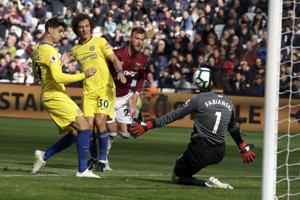 Momentka zo zápasu West Ham United - Chelsea Londýn.