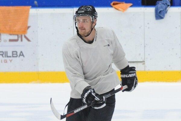 Roman Tománek na tréningu Michaloviec.