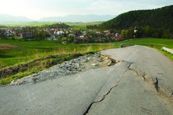 Cesta je uzavretá od októbra minulého roku.