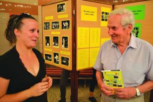 Evka Dutková spolu so znalcom turčianskeho ochotníckeho divadla Mišom A. Kováčom.