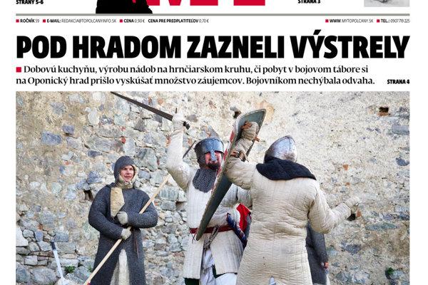a7c726bf9 Vyšlo ďalšie číslo MY Topoľčianskych novín Dnešok - SME | MY Topoľčany