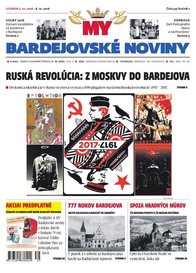 Titulka aktuálnych bardejovských novín.