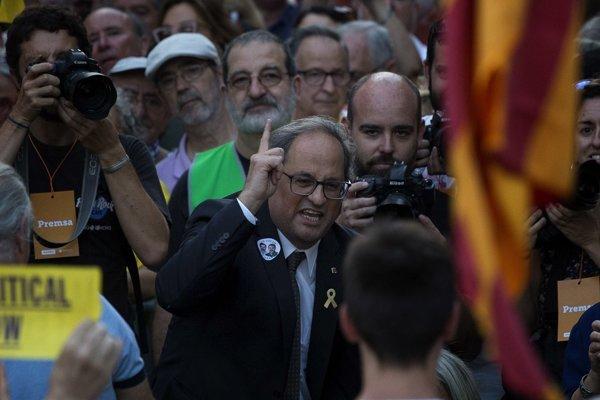 účasný katalánsky líder Quim Torra.