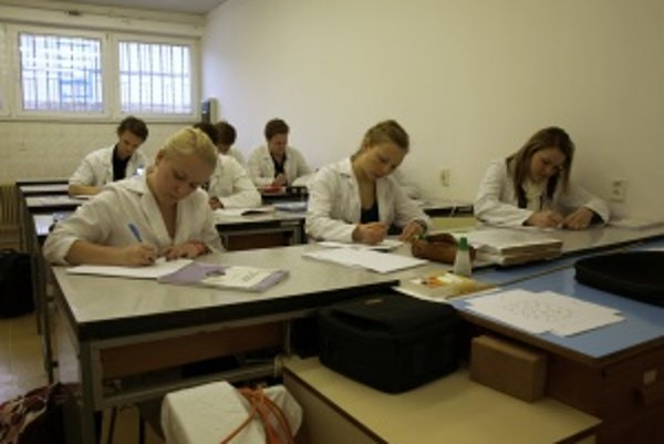 Študenti medicíny. Martinskú školu považujú zahraniční študenti za kvalitnú aj pre individuálny prístup k študentom.