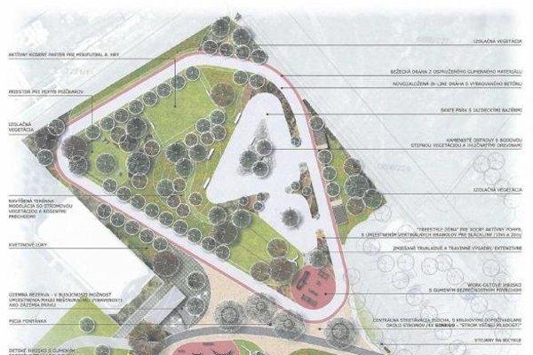 Návrh podoby Parku pohybu.