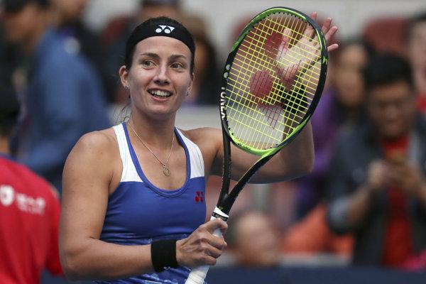 Anastasija Sevastovová sa teší z postupu.