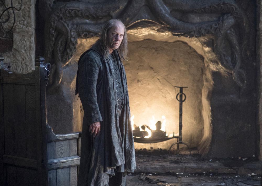 Patrick Malahaide ako Balon Greyjoy. Naposledy ho videli diváci v tretej sérii.
