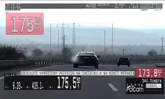 Vodičovi namerali výrazne vyššiu rýchlosť, ako povoľuje zákon.