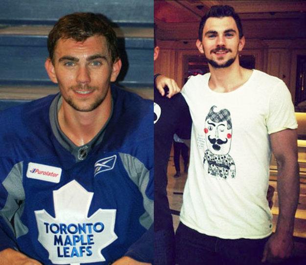 Nová tvár v nitrianskej kabíne: Justin Baker v drese Toronta (z tohto mesta pochádza) a v civile.