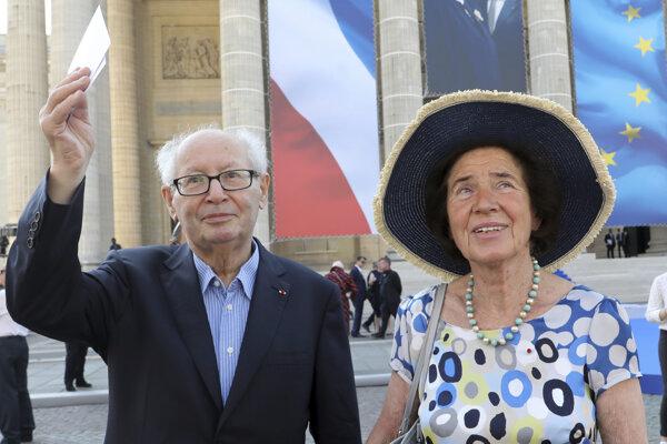 Serge Klarsfeld so svojou manželkou Beate.