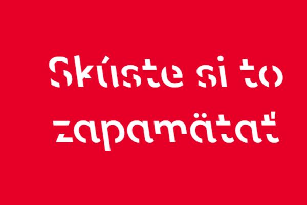 Ukážka písma Sans Forgetica.