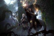 Geralt z Rivie a čarodejnica Yennefer v hre Witcher 3: Wild Hunt.
