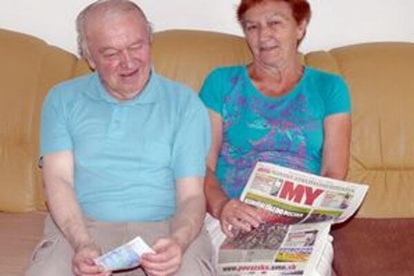 Anna a František. Výhra ich potešila, našu súťaž označili za serióznu.