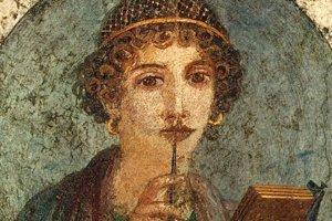 Sapfó- staroveká poetka, ktorá na ostrove Lesbos viedla internátnu školu. Pohybovala sa medzi vzdelancami a politikmi a preslávila sa predovšetkým básňami, v ktorým jasne zaznieva erotika voči ženám.